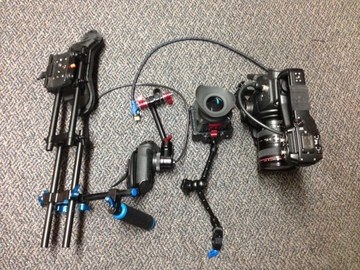 Rent: C100 Zacuto ENG Documentary  Package (lens/evf/rig)