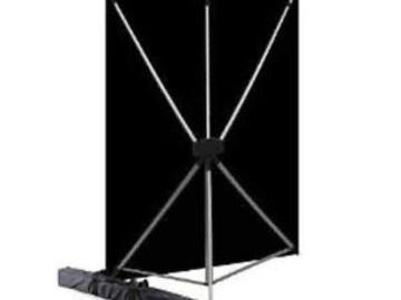 Rent: Black Screen (fabric)  - Westcott X-Drop Kit with 5 x 7 Feet