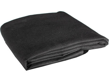 Rent: Black Molton/Duvetyne Dirt Cloth x ' 2 (6' x 10'')