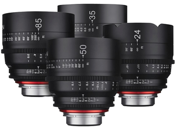 Rent: Rokinon XEEN 4-Lens Set (24, 35, 50, 85) EF Mount