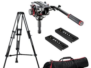 Rent: Manfrotto 504HD Tripod head with 546B Legs