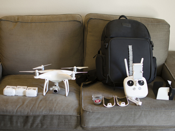 Rent: DJI Phantom 4 4k video Package w/4 Batteries