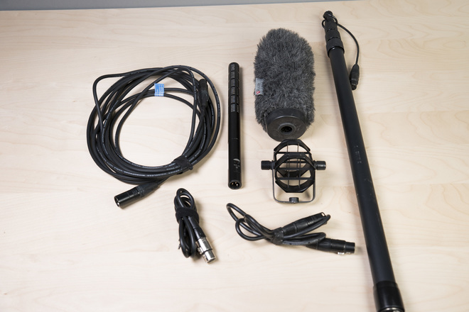 Sennheiser ME66 Shotgun Mic and Boom Pole