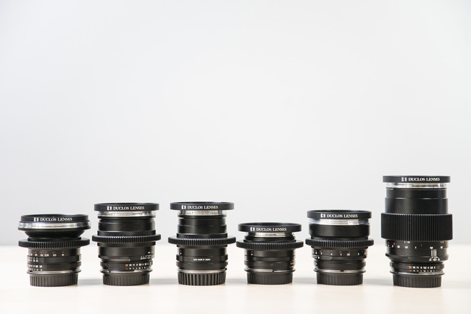 Duclos Cine Mod Zeiss ZF Prime Lens set (Canon EF)