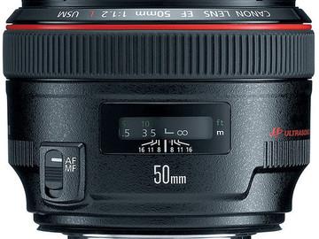 Rent: Canon 50mm 1.2 Prime