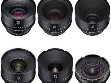 Xeen EF 6 Lens Set 14/20-24-35-50-85-135 in Jason Case w/NDs