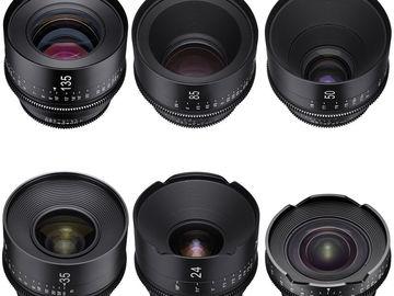 Rent: Xeen EF 6 Lens Set Choose 14-16-20-24-35-50-85-135 w/NDs