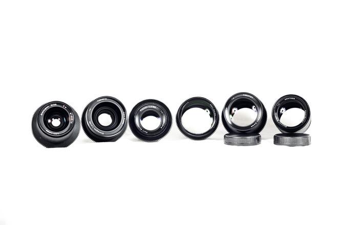 Zeiss Contax speed prime kit (3 lenses)