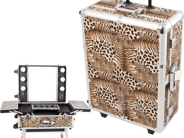 Rent: 3x Studio Makeup Case w/ Lights, Mirror, & Legs Package