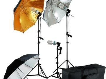 Rent: Lighting kit for 3 point lighting (plus an extra light)