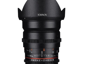 Rent: 24mm Rokinon Cine DS T1.5 [⌀77] (Canon EF)