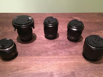 Rent: Zeiss Lens set of 5