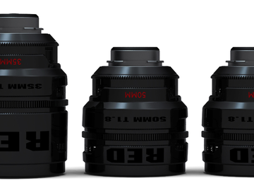 Rent: Set of 5 RED Pro Primes (25, 35, 50, 85, 100mm) PL Mount