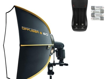 Rent: SPEEDBOX-S60 Quick Folding Hexagonal Softbox with Stand