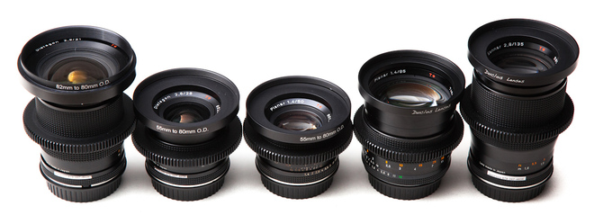 Set of 6 Zeiss Contax Cinestyle Lenses 18,25,35,50,85,135mm