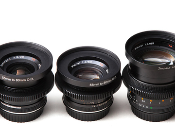 Rent: Set of 6 Zeiss Contax Cinestyle Lenses 18,25,35,50,85,135mm