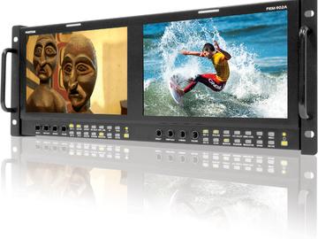"Rent: Postium Dual 9"" LCD 4RU Multi-Channel Rack Monitor"