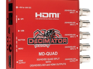 Rent: Decimator Quad Split - HDSDI inputs w/ HDSDI & HDMI output