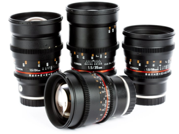 Rent: 5 Piece Rokinon T1.5 Cine Lens Kit