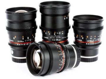 5 Piece Rokinon T1.5 Cine Lens Kit