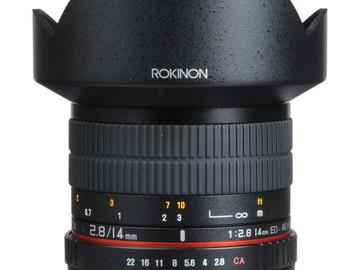 Rent: Rokinon 14mm Lens
