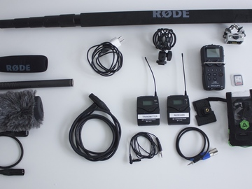 Rent: Zoom H5, Boom, Wireless Lav Package