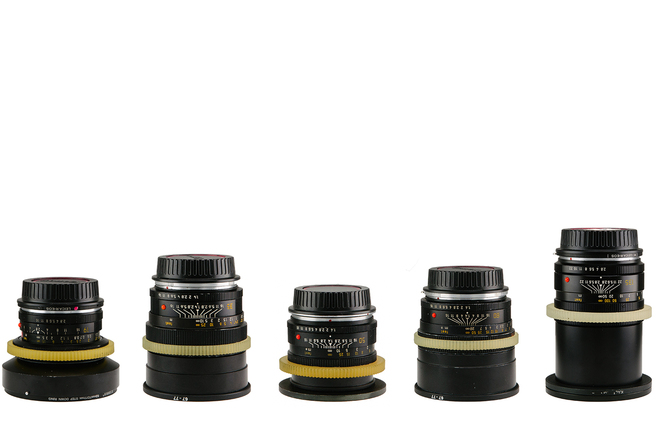 Set of 7 Leica Lenses CineStyle (19,24,28,35,50,80,135mm)