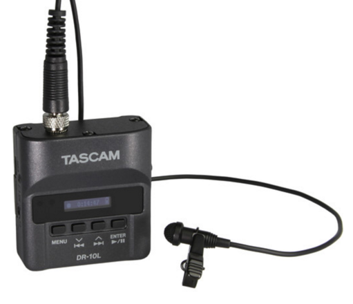 Set of Two Tascam DR-10L Audio Recorder with Lavalier Mic