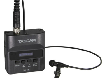 Rent: Set of Two Tascam DR-10L Audio Recorder with Lavalier Mic