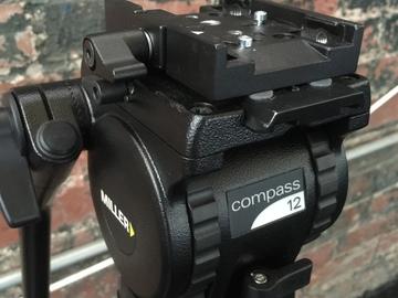 Miller Compass 12 Solo 75 Three-Stage Carbon Fiber Tripod