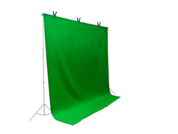 Rent: 10 x 20 ft. Green Chromakey Backdrop