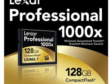 Rent: 1x 128GB Lexar 1000x CF Card UDMA7