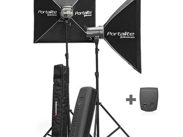 Rent: Elinchrom D-Lite 4it 400W/S strobe lights with radio trigger