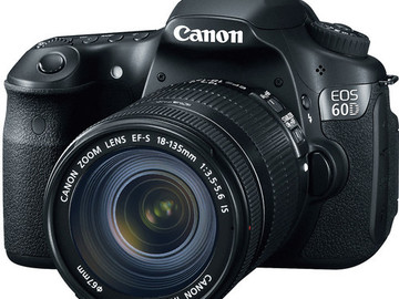 Rent: Canon 60D DSLR Kit - 18-55mm, 2 batteries & SD cards