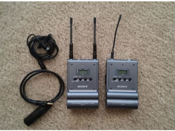 Rent: Sony Wireless UHF Microphone Bundle 838.025-862.000 MHz w/ m
