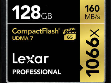 Rent: Lexar 1066x Compact Flash  Kit / 5 x 128GB + USB 3.0 Reader