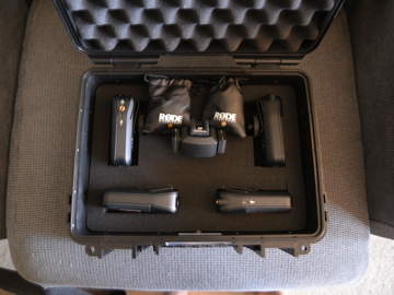 Rent: Rodelink Wireless Kits (2) with case and Tascam DR60
