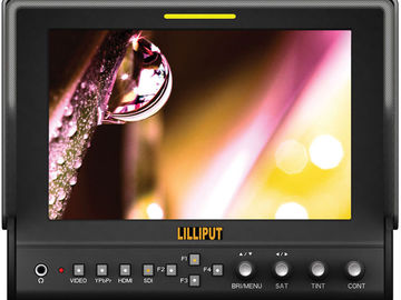 """LILLIPUT 663/O/P2 7"""" Monitor with Peaking, False Color, Wave"""