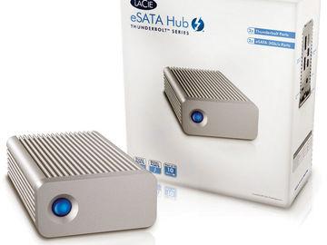 Rent: LaCie Thunderbolt & eSata Hub (w/ Thunderbolt loop out)