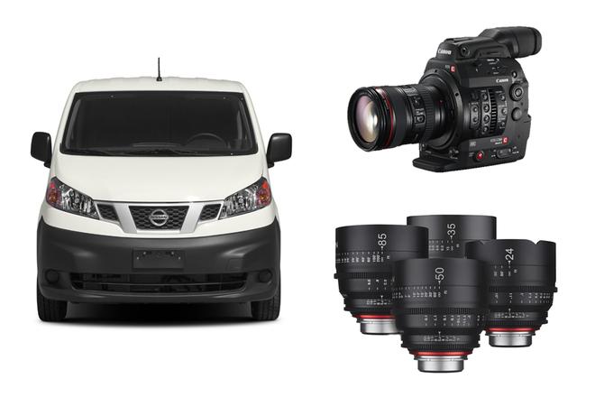 NV200 Van w/C300 MkII, Glass, Divas, 1x1 LEDs, Monitor+More!