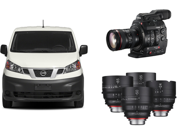 Rent: NV200 Van w/C300 MkII, Glass, Divas, 1x1 LEDs, Monitor+More!