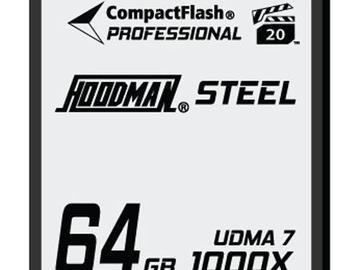 Hoodman RAW Steel Class 7 64GB CompactFlash Card, 1000x