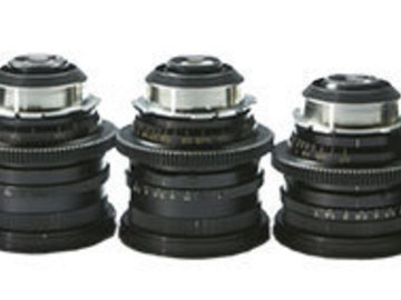 Rent: Set of 5 Zeiss 16mm Format Lenses PL Mount (9.5,12,16,25,50m