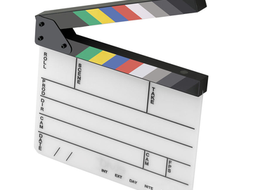 Rent: Acrylic Production Slate with Color Clapper Sticks