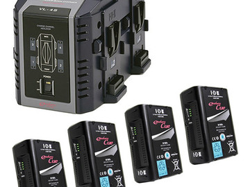 Rent: Quad Charger with 4 V-Mount Batteries