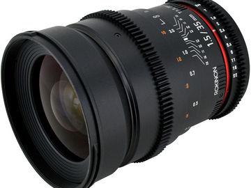 Rent: 35mm T1.5 Rokinon Cine Lens Canon EF