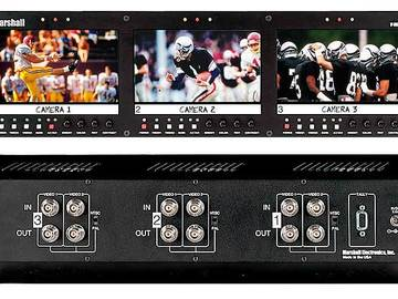 Rent: Marshall Triple Screen Rack Mounted LCD Panel