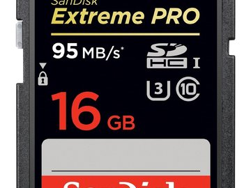 Two 16GB Extreme Pro SD Cards (95 MB/s)