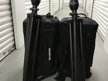 Rent: 2 - Mackie SRM450 Speakers with Stands