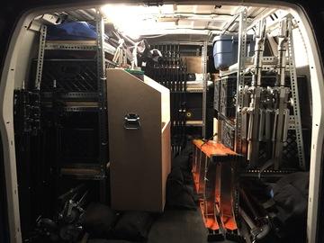 Rent: 2 Ton G&E Van, Electric, HMI Jokers, Driver/Grip